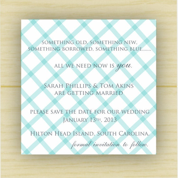 crisscross square save the date (set of 10)