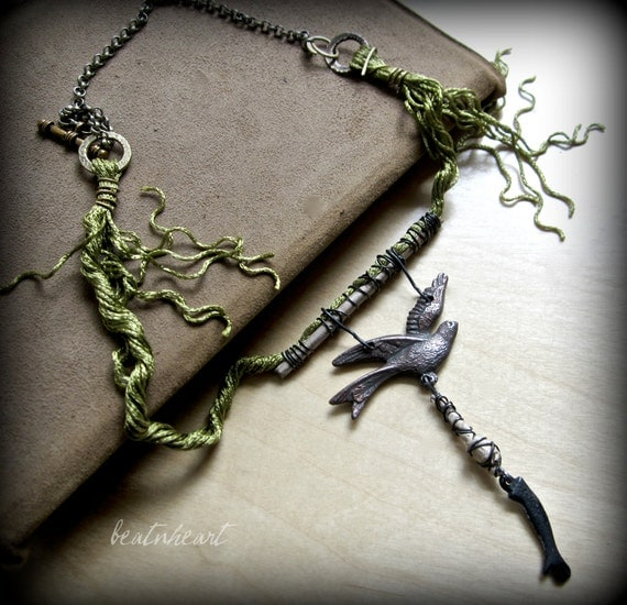Sometimes my Burden is too heavy. assemblage necklace