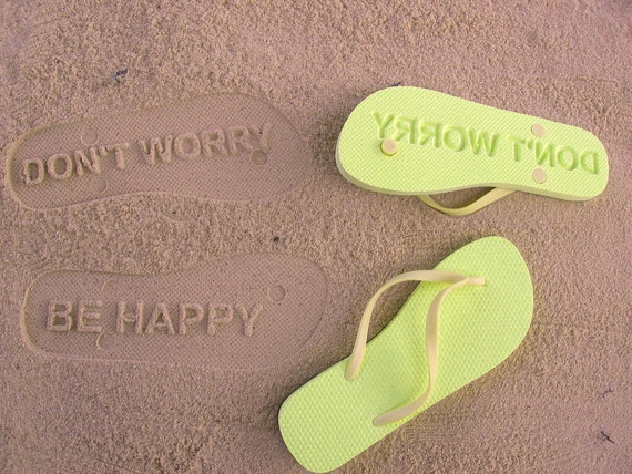 Custom Sand Imprint Flip Flops. Your Design. No Minimum Order Quantity :)