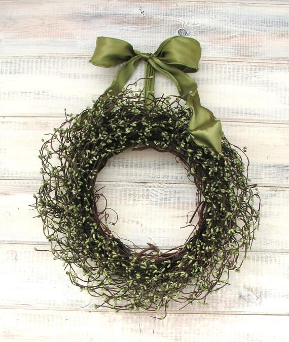 SOFT SAGE GREENSpring WreathsDoor WreathRustic Summer WeddingsDoor Decor