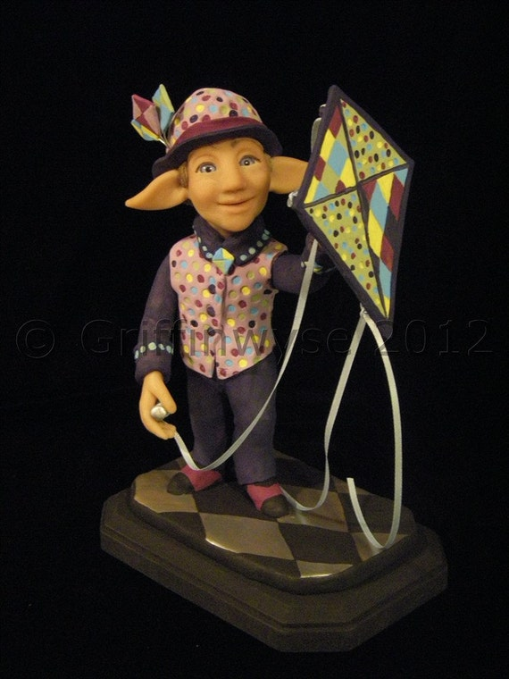 Art Doll Elf with kite - Brody