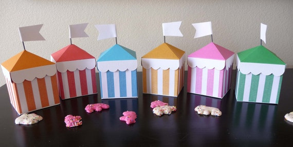 Colored Circus Tent Boxes: Party Favor, Candy Holder, Gift Box