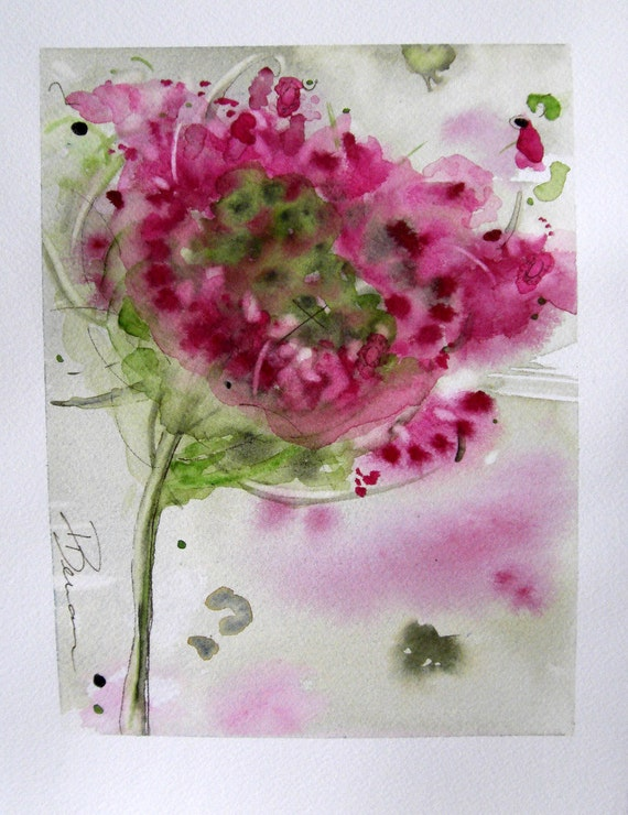 Queen Anne's Lace Floral Watercolor Original Art