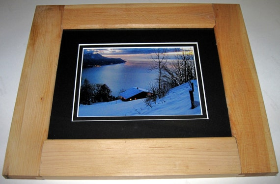 "8"" x 10"" Reclaimed, Recycled Maple Wood Picture Frame"