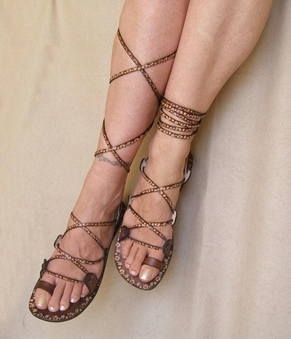 Lace Up  Flat  Sandals - Glory