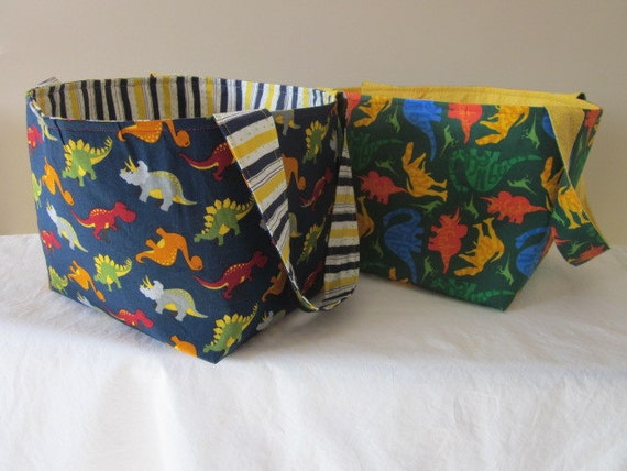 Custom Dino Fabric Basket order for Dora:)