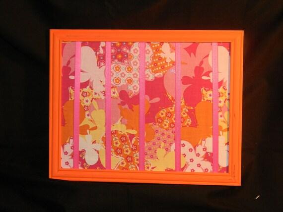 Orange Picture Frame Bow Holder