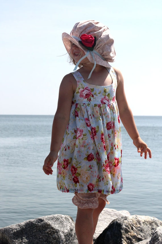 At The Seaside Dress, Bloomers and Hat Size 5-6