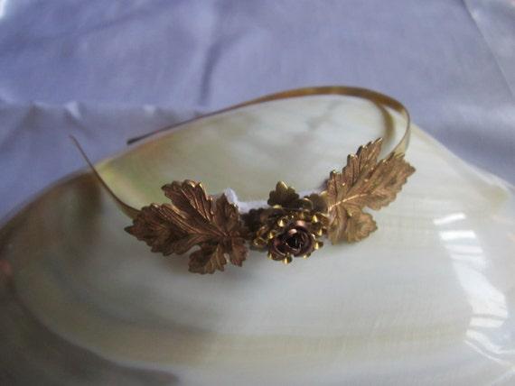 Gold Grecian maple leaf Headband for your wedding
