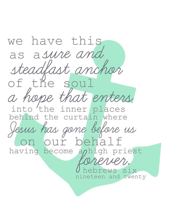 Hebrews 6:19-20 8x10 print