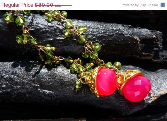 30 OFF  peridot chalcedony earrings by Beijo Flor by BeijoFlor from etsy.com