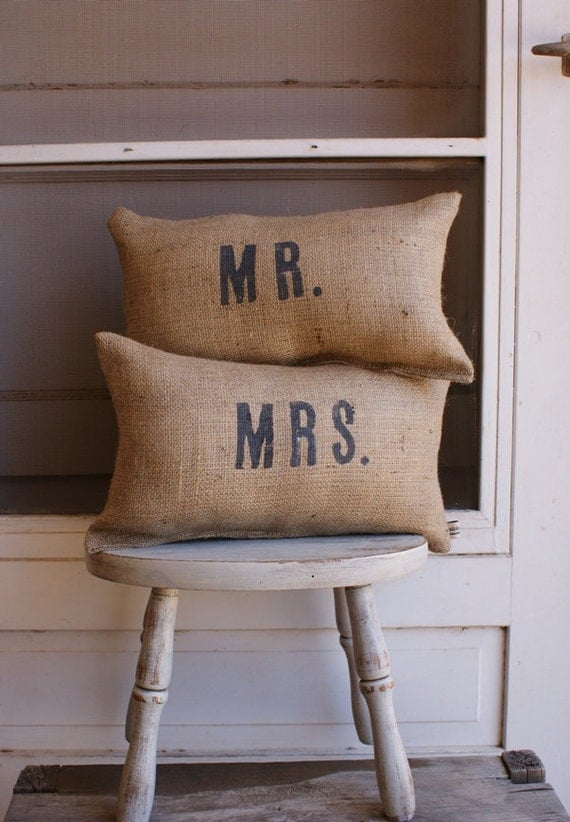 ORIGINAL...Petite Mr. and Mrs. Set for engagments, weddings, anniversaries Exclusively by My Adobe Cottage