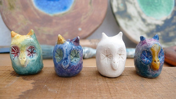 Ceramic Owl Miniatures