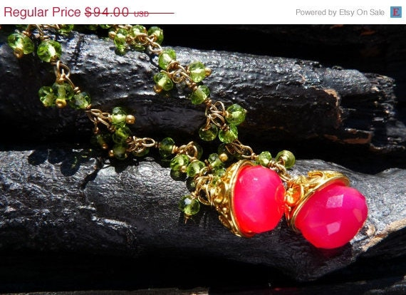 50 OFF SALE peridot chalcedony earrings by Beijo Flor by BeijoFlor from etsy.com