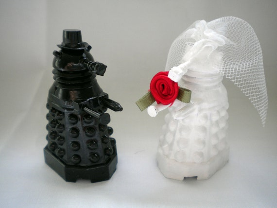 Dalek Cake Toppers Amp A Tardis Candle Holder Haus Of Ariella