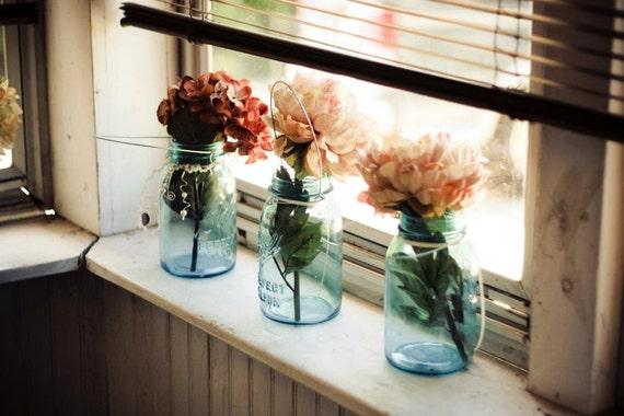 Hydrangea Mason Jar Vase
