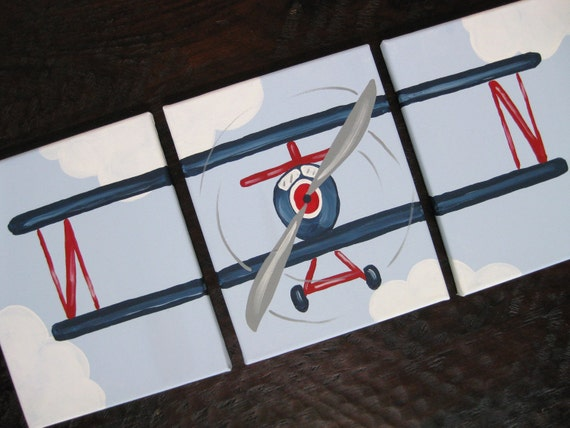 Airplane, 8x10 (set of 3) READY TO SHIP