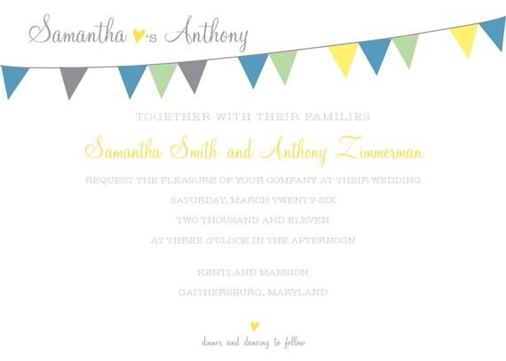 DIY Wedding Invitations - Devon