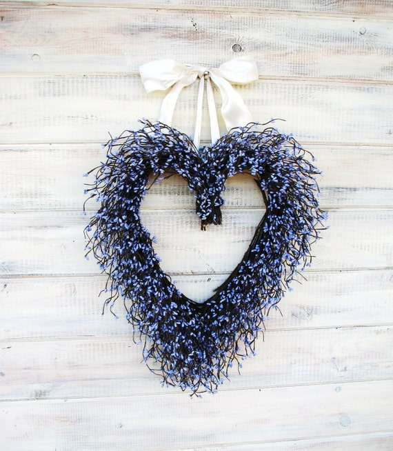 PURPLE LAVENDER Wedding Heart WreathSpring WeddingSummer WeddingWedding
