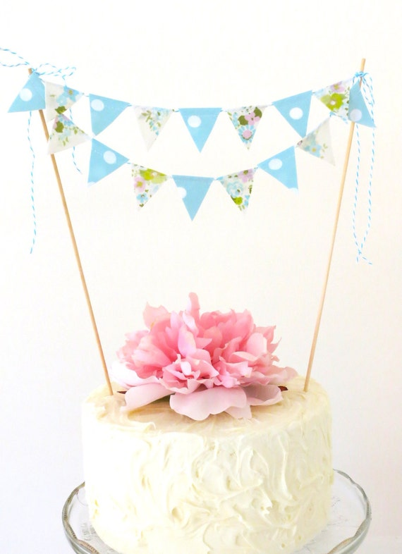 "Cake Bunting- ""Forget Me Not"""
