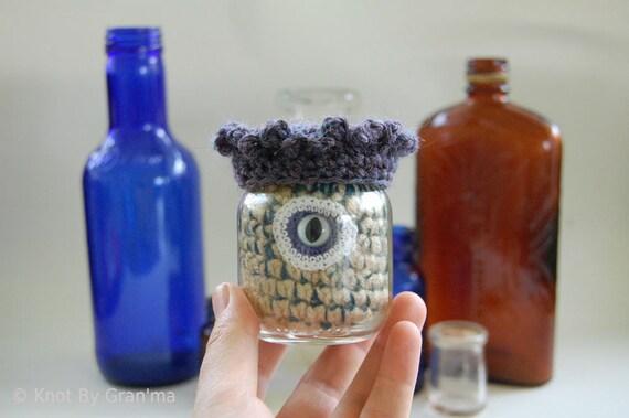 Monster Under Glass Doll OOAK Collectible Crochet Art