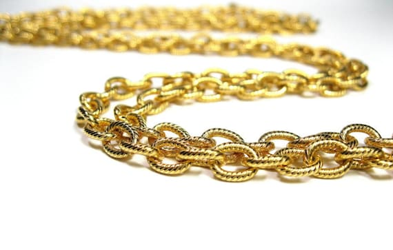 Vintage Trifari Gold Chain Necklace
