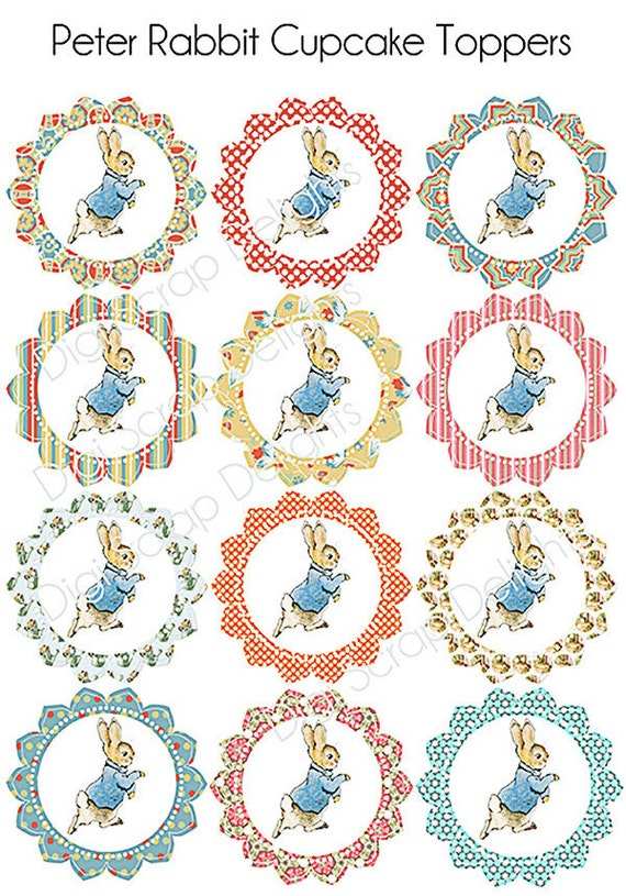 Peter Rabbit Printable Birthday Party Or Baby Shower Kit
