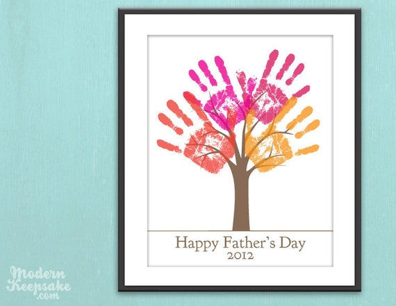 Fathers Day Gift - DIY Child's Handprint Tree - Printable pdf