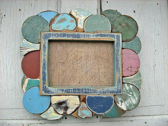 Reclaimed Wood Mosaic 5x7 Picture Frame