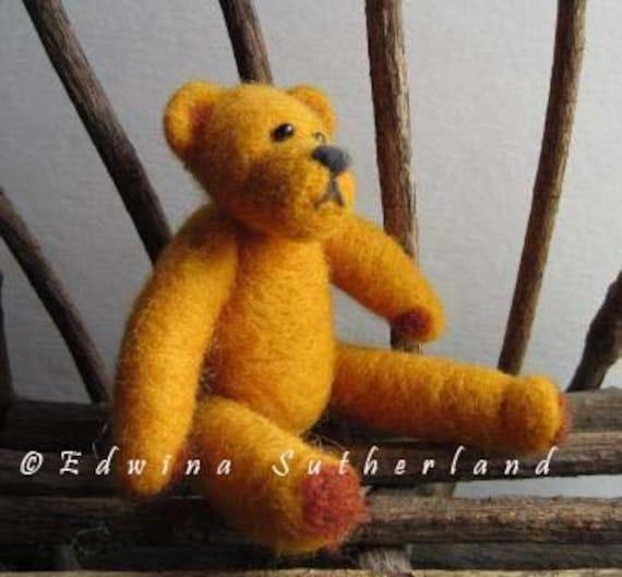 Teddy bear tutorial for needle felting