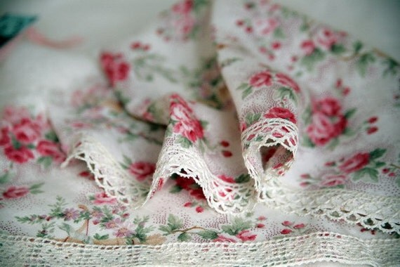 Vintage Rose Kercief and Lace