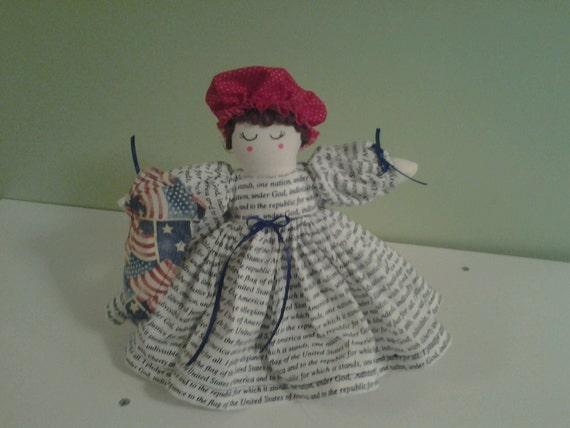 Patriotic Cupcake Potholders and Air Freshener Doll