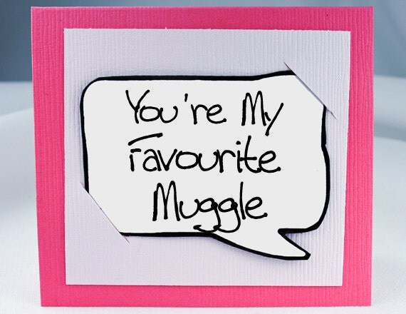 Harry Potter Quote Card - Pink Muggle Funny Quote Magnet