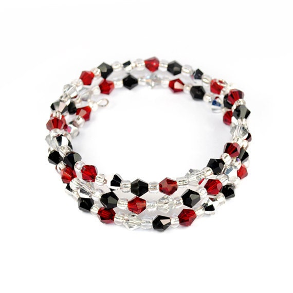 CHIC Bean Bizzzare Stacked Bracelet Swarovski Crystal - Rare and Striking, Wild and Glamorous