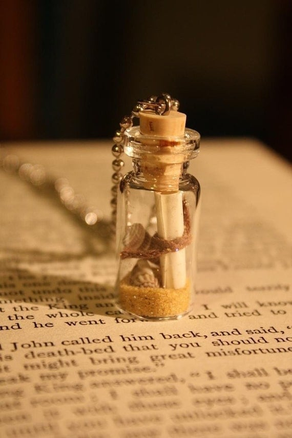 Message From The Sea Vial Necklace