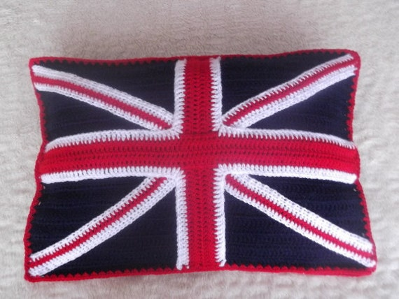 Navy  Blue Union Jack Cushion Cover