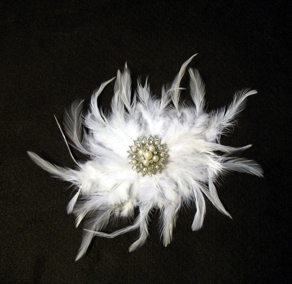 The Fairy Tale White Barrette Wedding Fascinator