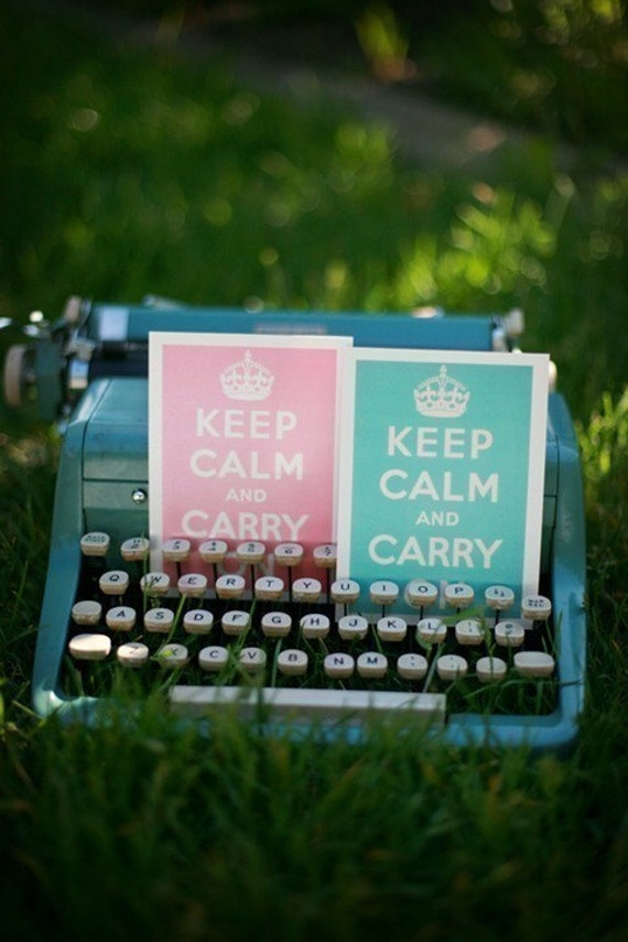 Keep Calm and Carry On Postcards- Set of 4