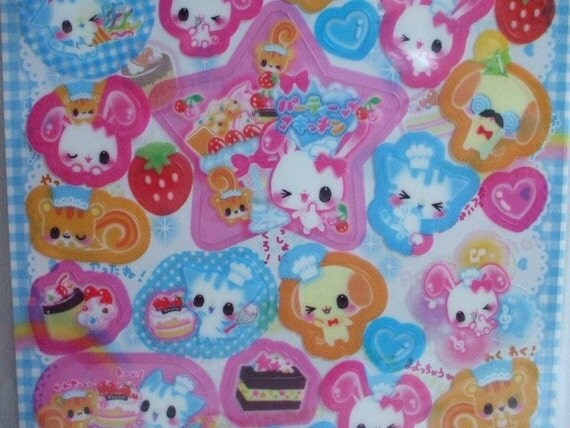 Kawaii Japanese Cute Stickers -Party Kitchen-