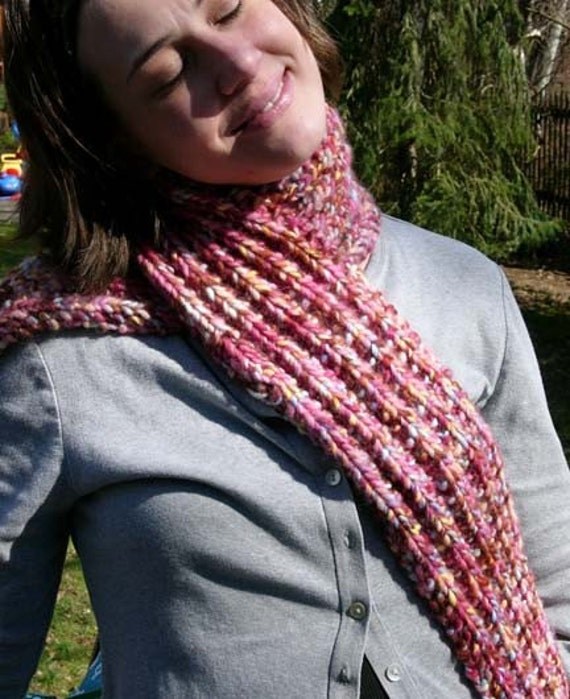 SALE...Red Raspberry Scarf...6 dollars off
