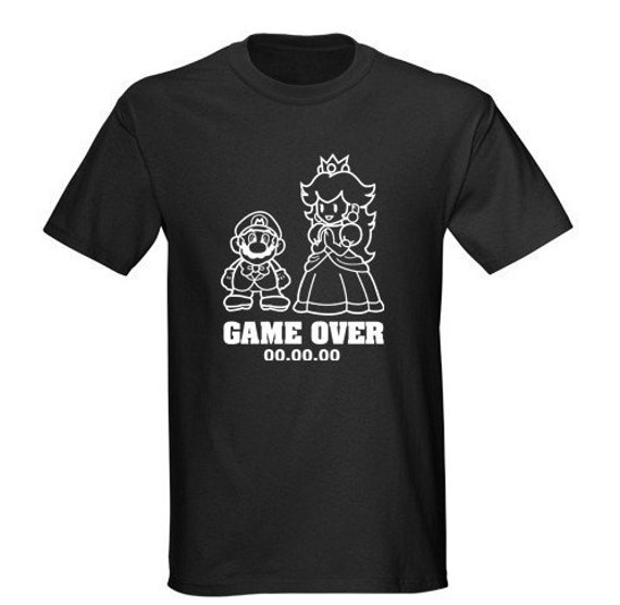 Mario Game Over Wedding T-shirt Groom Bride. From SomethingBlueDesigns