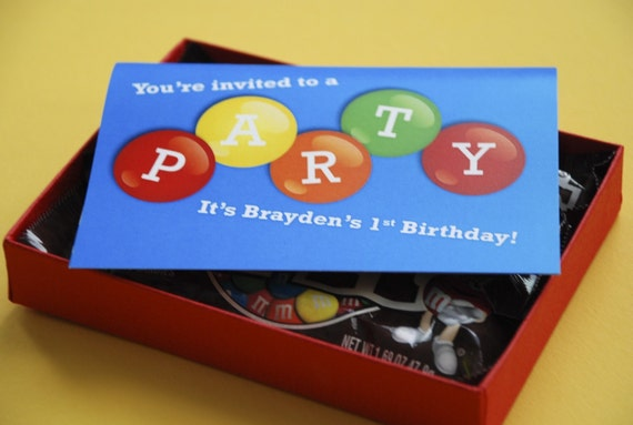 Deposit - Boxed Candy Birthday Party Invitation