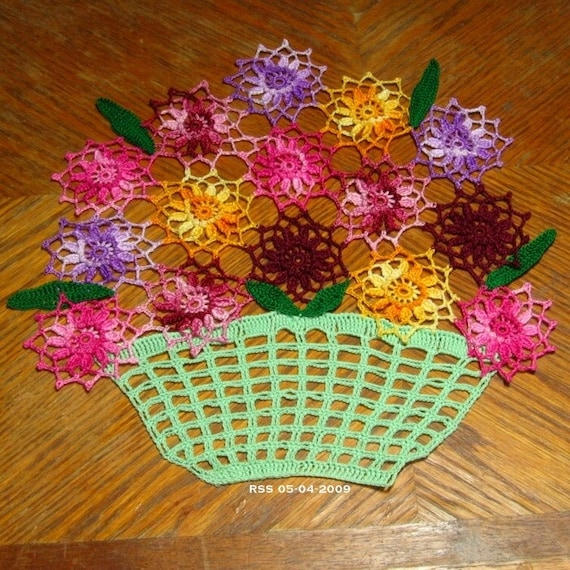 BASKET OF FLOWERS FOR MOTHER -- BURSTS OF SPRING COLOR