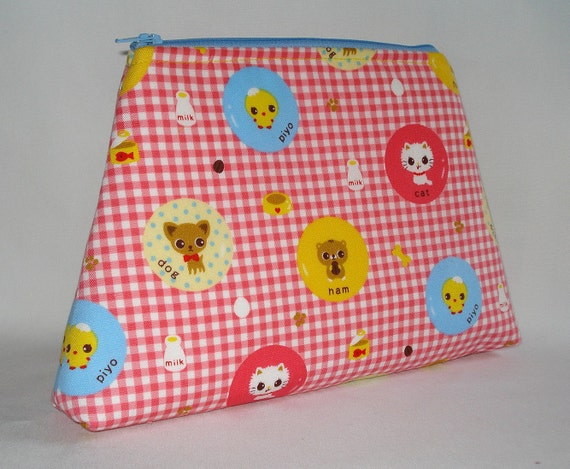 Ham and Friends Kawaii Cuties The Classic Clutch  Pink by WolfBait