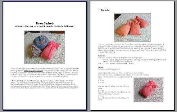 Digital PDF knitting pattern file sold for passive income ebooks