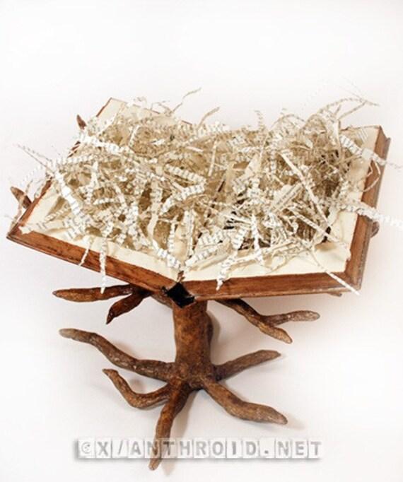 OOAK Original Art Tree Book Sculpture Free US Shipping