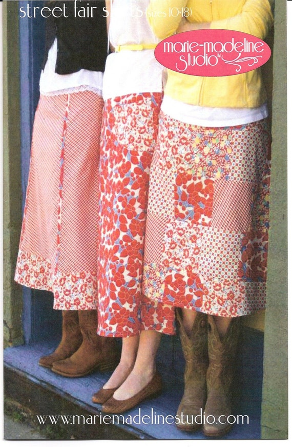street fair skirts pattern (ladies' sz. 10-18)
