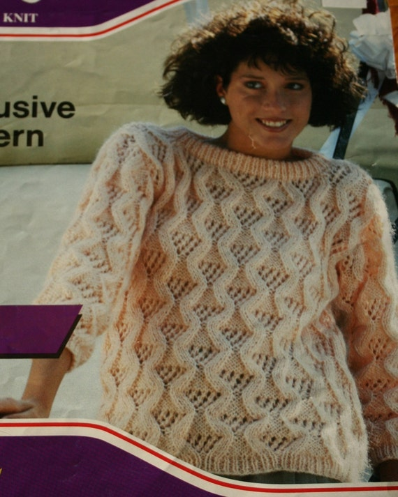 Cables and Lace Ladies Sweater