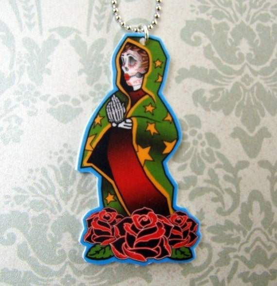 Virgen de Guadalupe Tattoo Necklace. From ModishMayhem