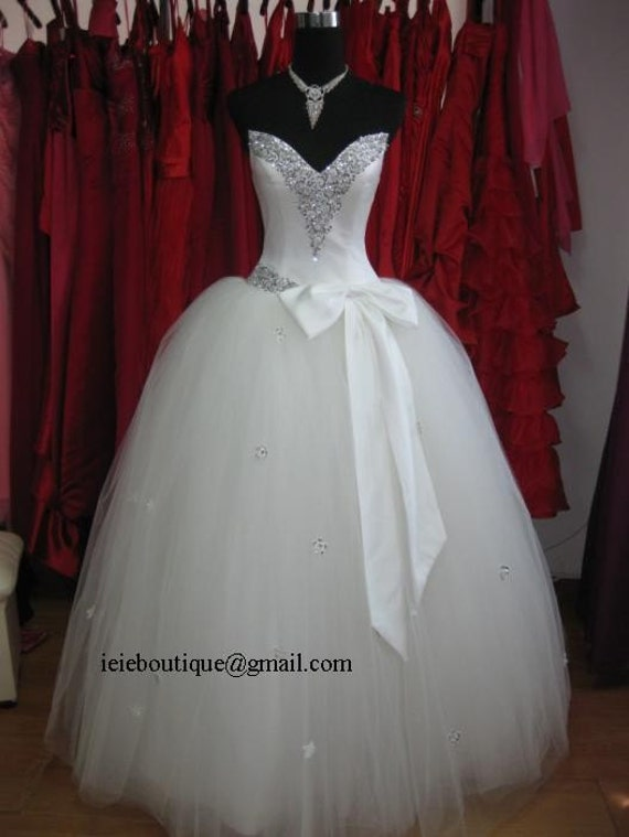 Pnina Tornai Inspired Tulle Ball Gown Wedding Dress From ieie